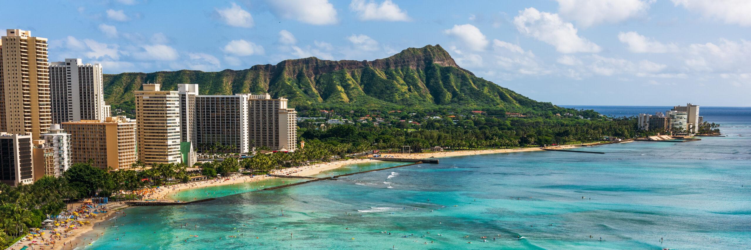 Hawaii,Panoramic,Honolulu,City,Travel,Landscape,Banner,Background,Of,Waikiki